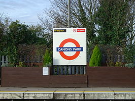 Canons Park tube sign.JPG