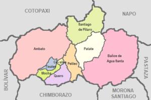 Tungurahua Province - Image: Cantones de Tungurahua