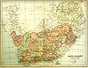 Cape Colony map 1876 - Eve of Confederation Wars