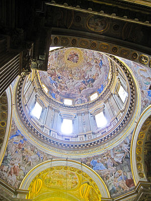 Cabal of Naples - Domenichino's frescoes in the dome of the Cappella del Tesoro