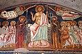 Cappella di san silvestro, affreschi del 1246, 02 cristo in trono tra maria, san giovanni, gli apostoli e angeli 3.jpg