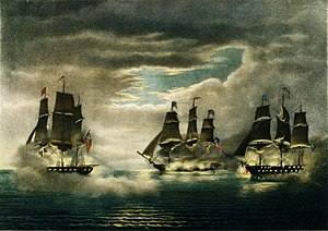 Capture of H.M. Ships Cyane & Levant, by the U.S. Frigate Constitution.jpg