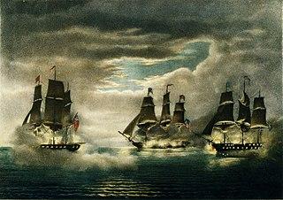 Capture of HMS <i>Cyane</i> and HMS <i>Levant</i>