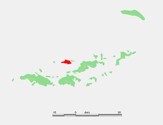 Jost Van Dyke - The location of Jost Van Dyke in the Virgin Island chain