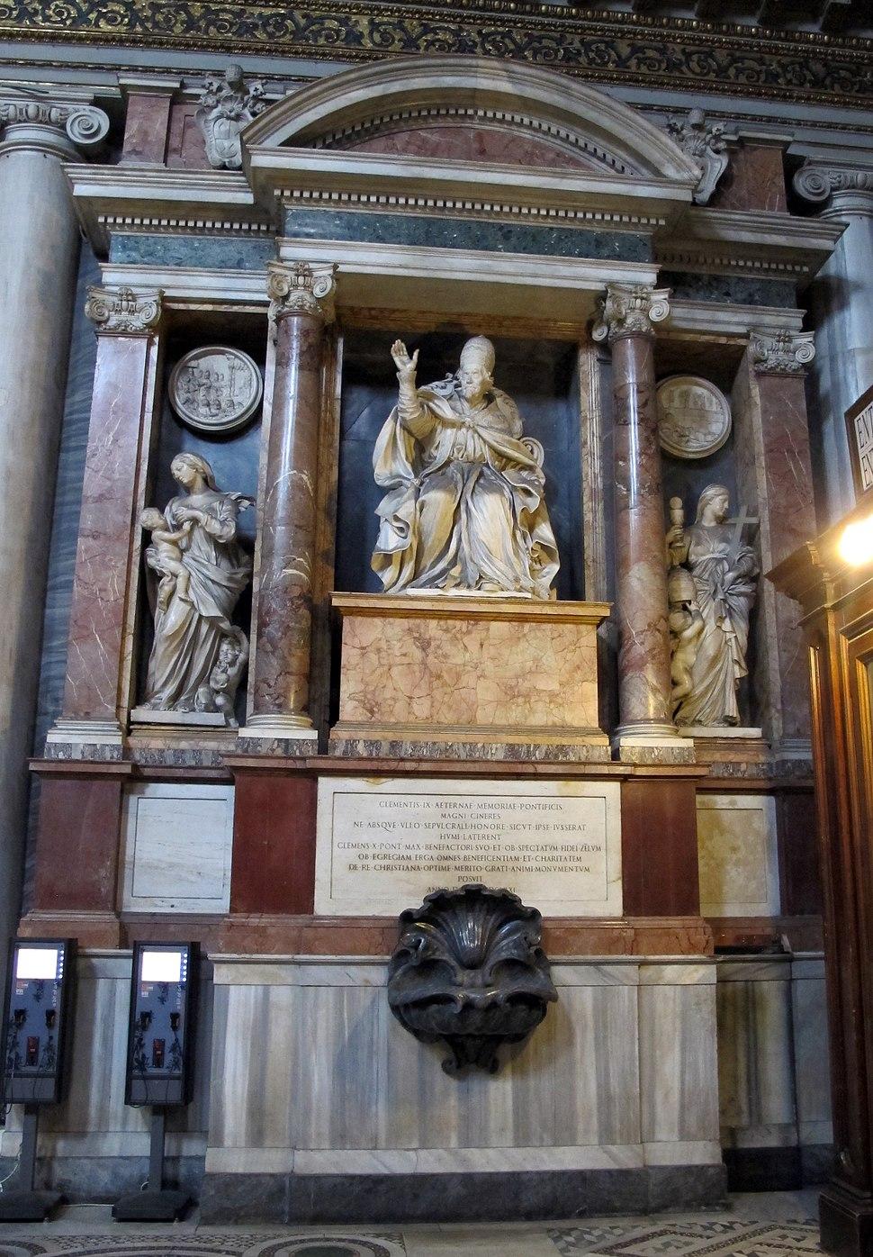 Carlo rainaldi, monum. a clemente IX (1671), con papa di domenico guidi, fede di cosimo fancelli e carità ercole ferrata 2