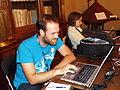 Carlos colaborando en Wiki Editatón Madrid 2014.JPG