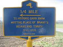 Carr farm, Brant's meeting place from 1770-1778, Columbus, NY