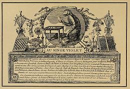 Carte Dadresse De Lorfevre Parisien Biennais Paris Fin XVIIIe S