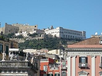 Castel Sant'Elmo - Image: Castel Sant' Elmo e Certosa di San Martino da piazza del Plebiscito