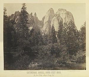 Charles Leander Weed - Image: Cathedral Rocks, 3000 Feet High by Charles L Weed, 1864