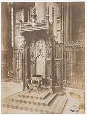 Photographie du trône épiscopal de la cathédrale d'Albi