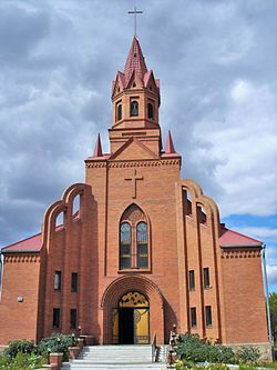 Catholic church of Saint Thereza in Pavlodar.JPG