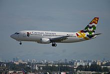 Cayman Airways, Boeing 737-500, VP-CKZ (15823314235).jpg