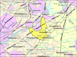 Census Bureau map of Burlington Township, New Jersey