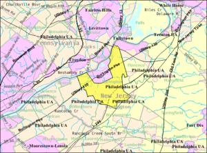 Burlington Township, New Jersey - Image: Census Bureau map of Burlington Township, New Jersey