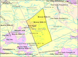 Census Bureau map of Plumsted Township, New Jersey