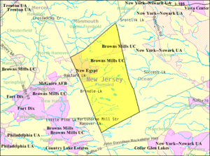 Plumsted Township, New Jersey - Image: Census Bureau map of Plumsted Township, New Jersey