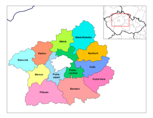 Districts of the Czech Republic - Districts of Central Bohemia