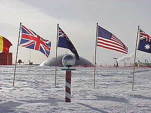 South Pole - The Ceremonial South Pole in 1998.