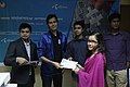 Certificate given in Bangla Wikipedia Editors' Assembly at CIU (09).jpg