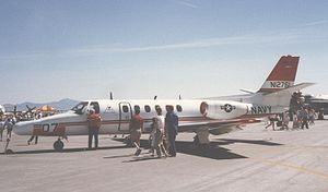 Cessna Citation II - Cessna T-47A trainer of the US Navy's TRAWING 6 at Nellis AFB, Nevada, in May 1987