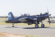 Chance-Vought F4U-5N Corsair (VH-III) taxiing during the 2015 Warbirds Downunder Airshow at Temora.jpg