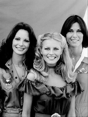 Charlie's Angels - Cast for seasons 2–3 (left to right): Jaclyn Smith, Cheryl Ladd, and Kate Jackson