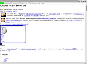 charon web browser wikipedia