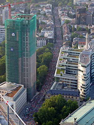 JPMorgan Corporate Challenge - Overhead view from the Frankfurt J.P. Morgan Corporate Challenge