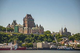 Château Frontenac - Château Frontenac towers above Old Quebec's Lower Town, situated atop the promontory of Quebec.