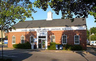 Chatham Township, New Jersey - The old Chatham Post Office building, which serves as an annex to the main building nearby