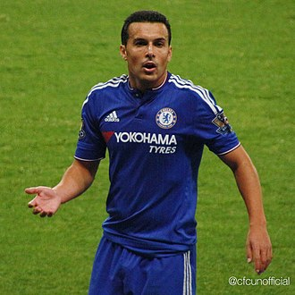 Pedro (footballer, born 1987) - Pedro playing for Chelsea in 2015