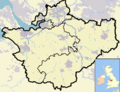 Cheshire outline map with UK (2009).png
