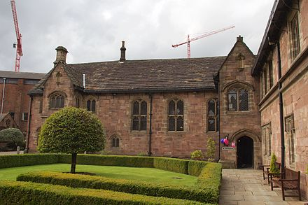 The 15th-century Baronial Hall that houses Chetham's Library Chetham's Library 2015 3.jpg