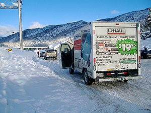 U-Haul - A U-Haul truck on the Coquihalla Highway in British Columbia.