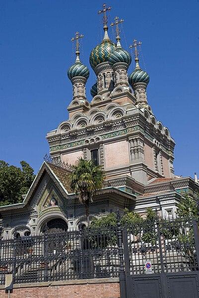 File:Chiesa russa ortodossa della natività di Firenze, laterale.jpg