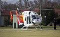 Child Flight (VH-BKZ) Eurocopter-Kawasaki BK-117B-2 at the Duke of Kent Oval Helipad.jpg