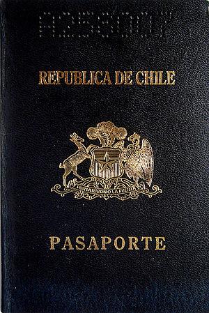 Chilean passport - Image: Chilean passport 1992