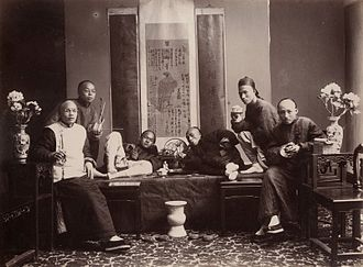 History of opium in China - Opium smokers c1880 by Lai Afong.