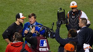 Craig Sager - Sager during an MLB game in 2012