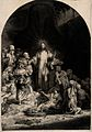 Christ stands amongst sick people ('The hundred guilder prin Wellcome V0034894.jpg