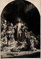 Christ stands amongst sick people ('The hundred guilder prin Wellcome V0034894.jpg