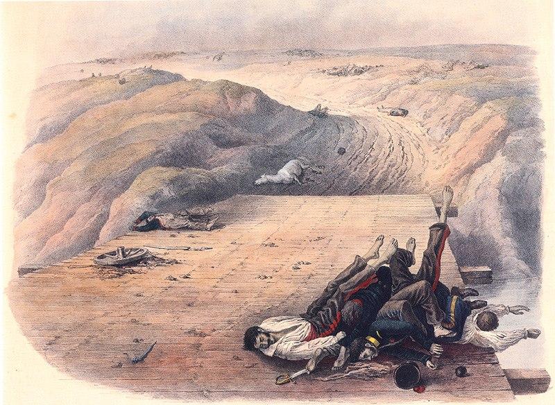 Christian Wilhelm von Faber du Faur - Dead soldiers of the Grand Armée (color)