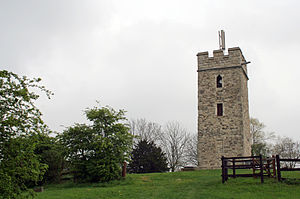 Pitsea - The remains of the church of St. Michael at Pitsea mount.