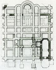 Church of Tithes, Kiev, basement plan, 1826