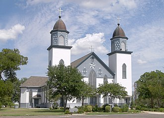 National Register of Historic Places listings in Falls County, Texas - Image: Church of the visitation westphalia
