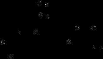 Strukturformel von Cilastatin