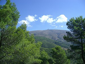 Aitana - Aitana peak and the antenna of EVA