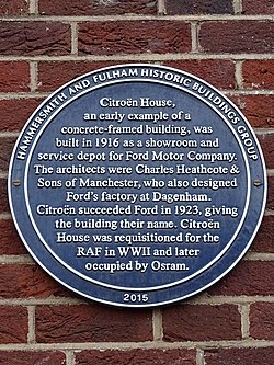 Citroën house (hammersmith and fulham historic buildings group)