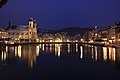 City of Luzern by night. View of Jesuit Church..jpg